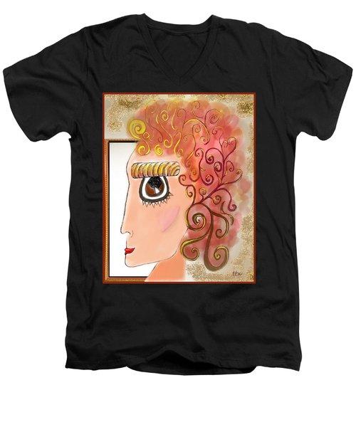Athena In The Mirror Men's V-Neck T-Shirt
