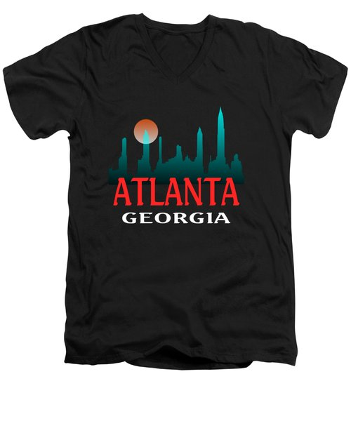 Atlanta Georgia Design Men's V-Neck T-Shirt