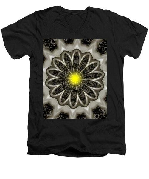 Atomic Lotus No. 2 Men's V-Neck T-Shirt by Bob Wall