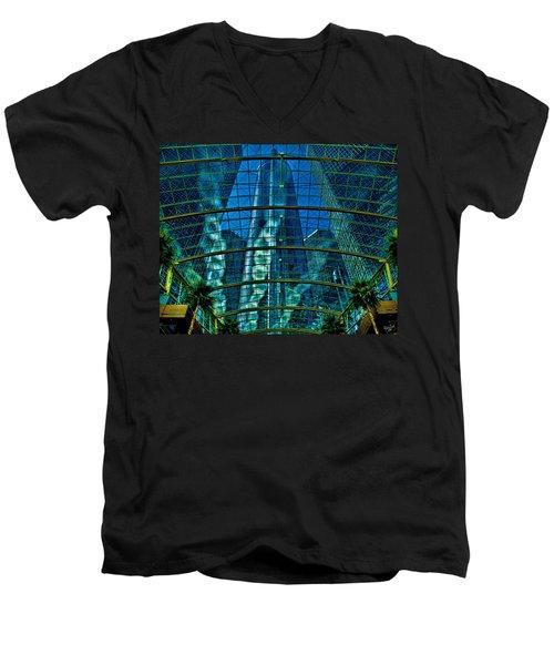 Atrium Gm Building Detroit Men's V-Neck T-Shirt