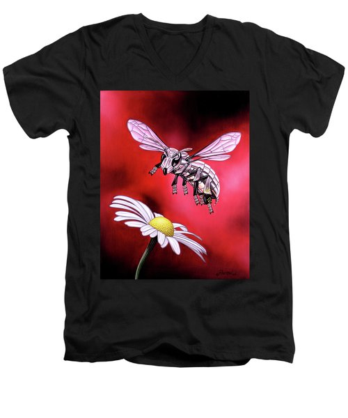 Attack Of The Silver Bee Men's V-Neck T-Shirt