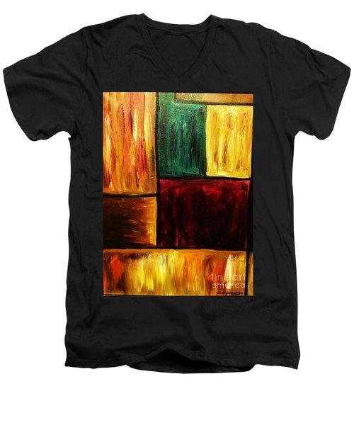 Attractive Men's V-Neck T-Shirt