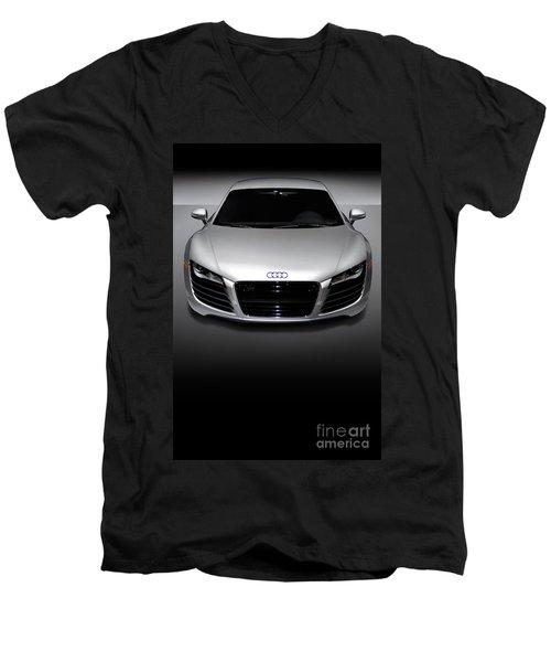 Audi R8 Sports Car Men's V-Neck T-Shirt