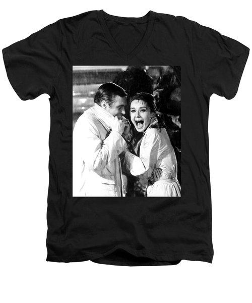 Audrey Hepburn As Holly Golightly Men's V-Neck T-Shirt