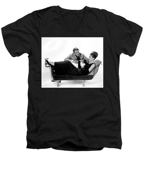 Audrey Hepburn Holly Golightly Breakfast At Tiffanys  Men's V-Neck T-Shirt