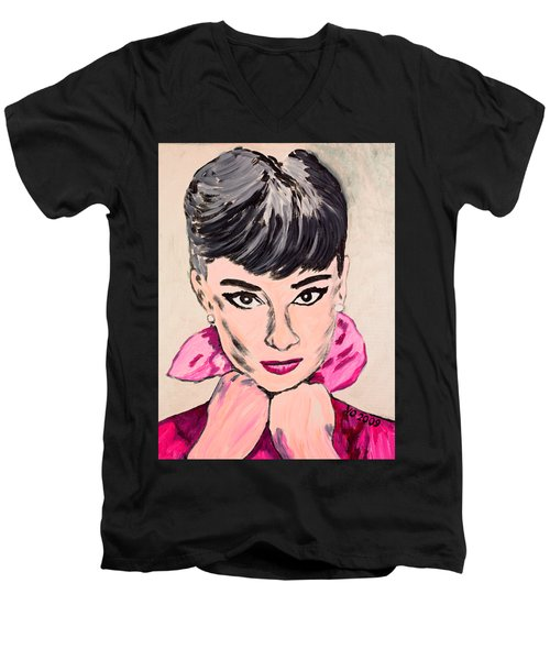 Audrey Hepburn Men's V-Neck T-Shirt