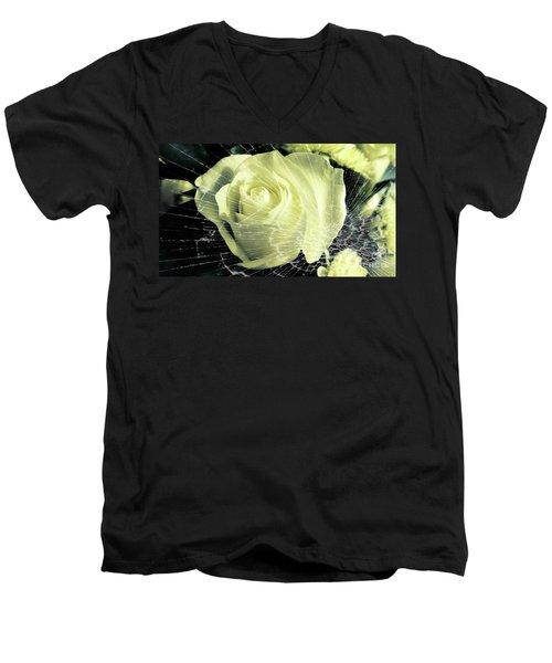 Aunt Edna's Rose Men's V-Neck T-Shirt