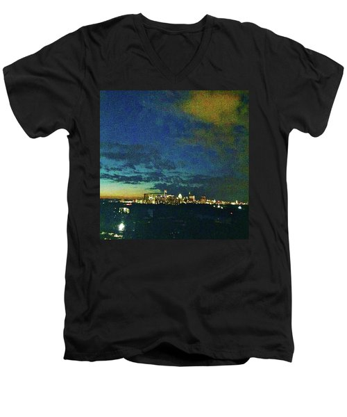 Austin At Dusk Men's V-Neck T-Shirt