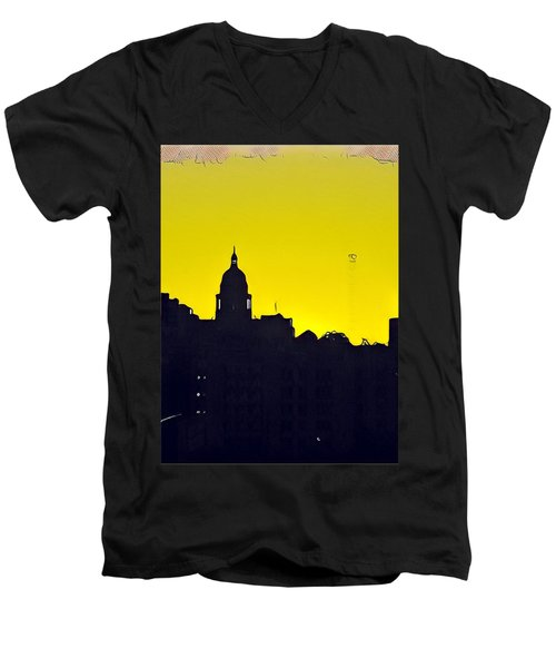 Austin Capital At Sunrise Men's V-Neck T-Shirt
