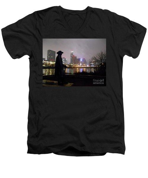 Austin Hike And Bike Trail - Iconic Austin Statue Stevie Ray Vaughn - One Men's V-Neck T-Shirt