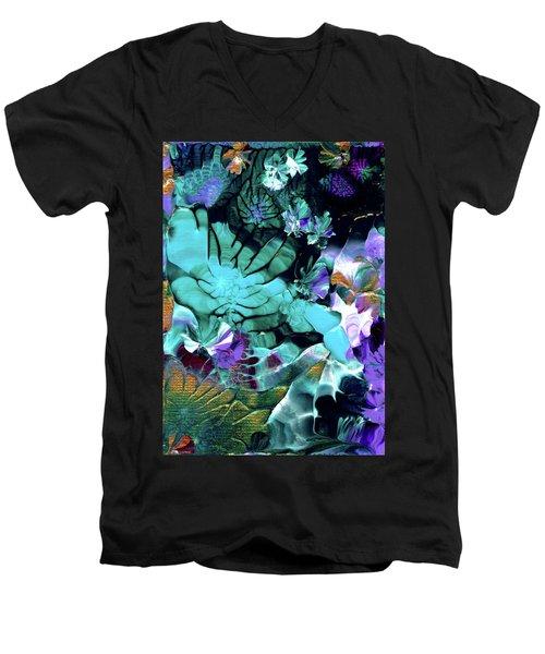 Australian Emerald Begonias Men's V-Neck T-Shirt
