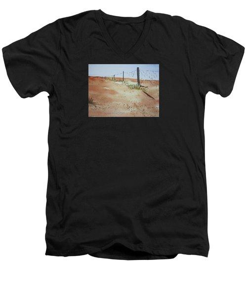 Australian Outback Track Men's V-Neck T-Shirt by Elvira Ingram