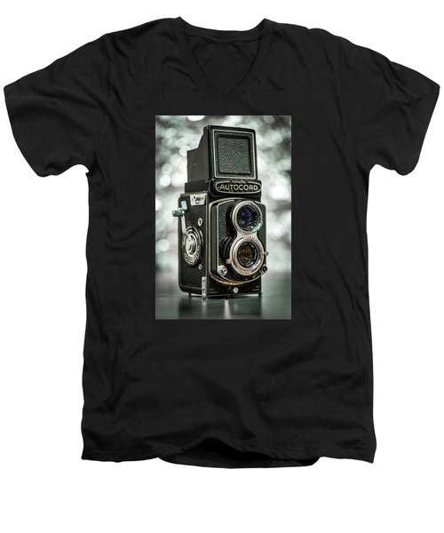 Men's V-Neck T-Shirt featuring the photograph Autocord by Keith Hawley