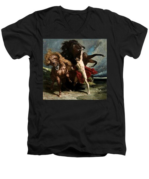 Automedon With The Horses Of Achilles Men's V-Neck T-Shirt