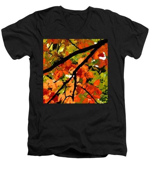 Autumn Ablaze Men's V-Neck T-Shirt