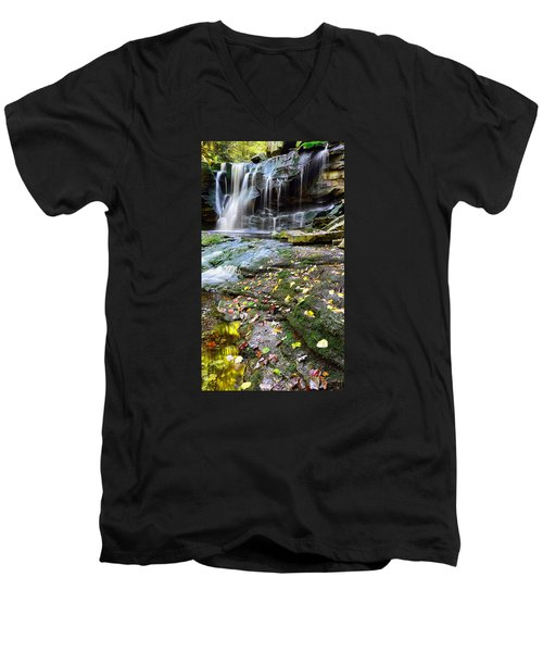 Autumn At Elakala Men's V-Neck T-Shirt
