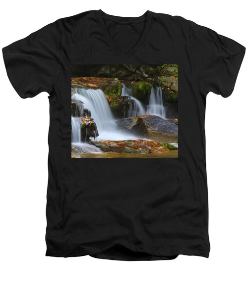 Autumn At Jackson Falls Men's V-Neck T-Shirt