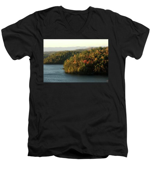 Autumn At Philpott Lake, Virginia Men's V-Neck T-Shirt