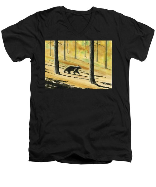 Autumn Bear Men's V-Neck T-Shirt