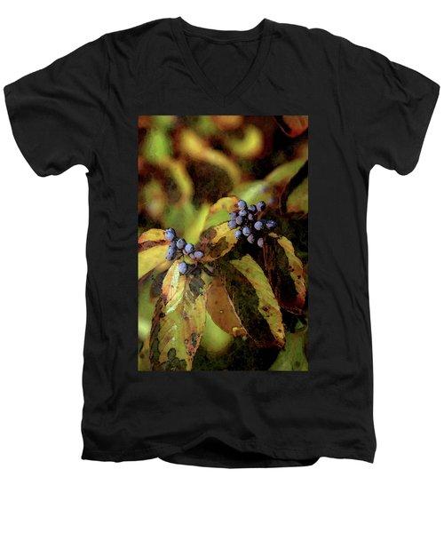 Autumn Berries 6047 Dp_2 Men's V-Neck T-Shirt
