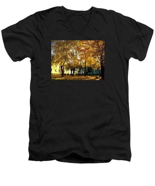Autumn Festival Of Colors Men's V-Neck T-Shirt by Henryk Gorecki