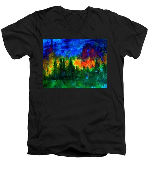 Autumn Fires Men's V-Neck T-Shirt