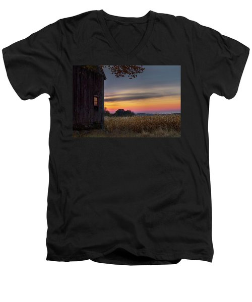 Men's V-Neck T-Shirt featuring the photograph Autumn Glow by Bill Wakeley