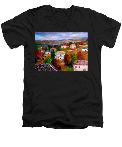Autumn In Greece Men's V-Neck T-Shirt