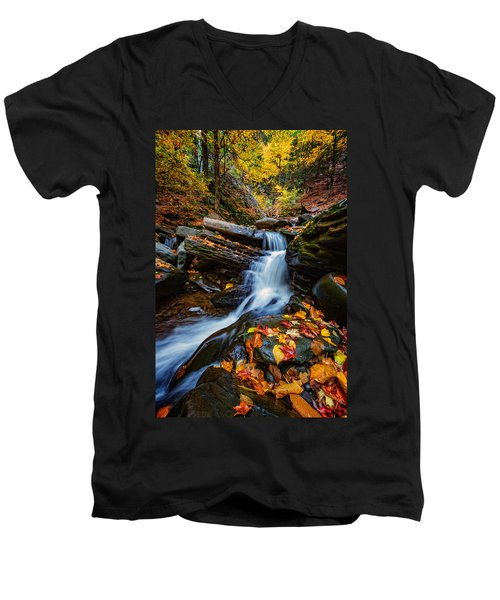 Autumn In The Catskills Men's V-Neck T-Shirt