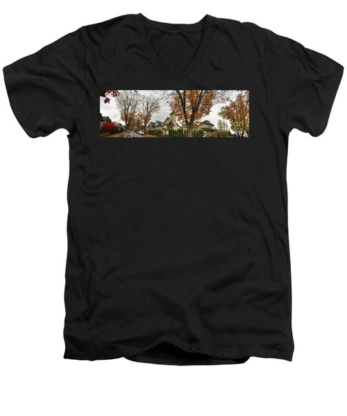 Autumn In The City 11 Men's V-Neck T-Shirt by Victor K