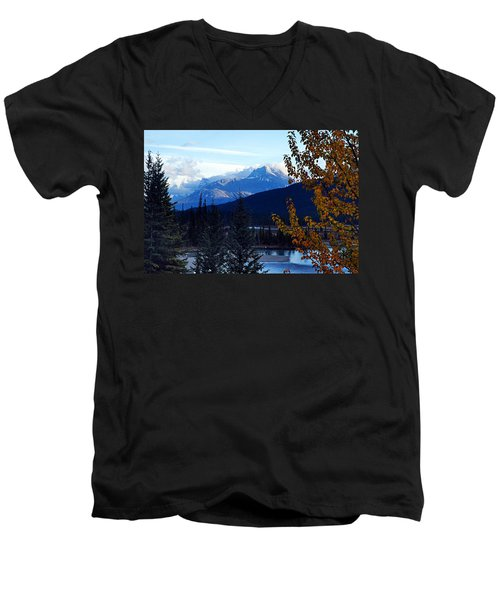 Autumn In The Mountains Men's V-Neck T-Shirt