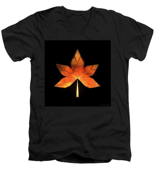 Autumn Leaves - Frame 260 Men's V-Neck T-Shirt