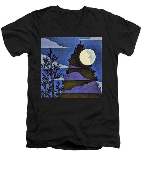 Autumn Moon Men's V-Neck T-Shirt