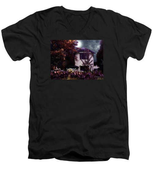 Autumn Night In The Country Men's V-Neck T-Shirt by RC deWinter
