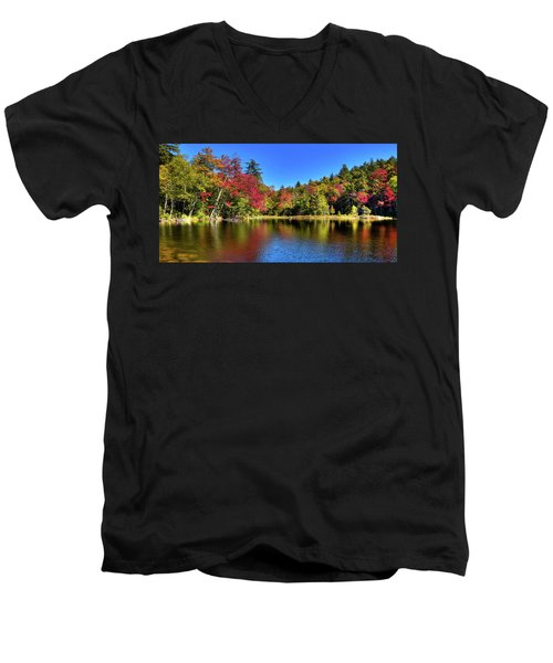 Autumn On 7th Lake Men's V-Neck T-Shirt