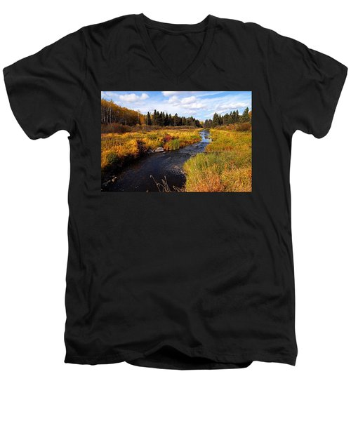 Autumn On Jackfish Creek Men's V-Neck T-Shirt