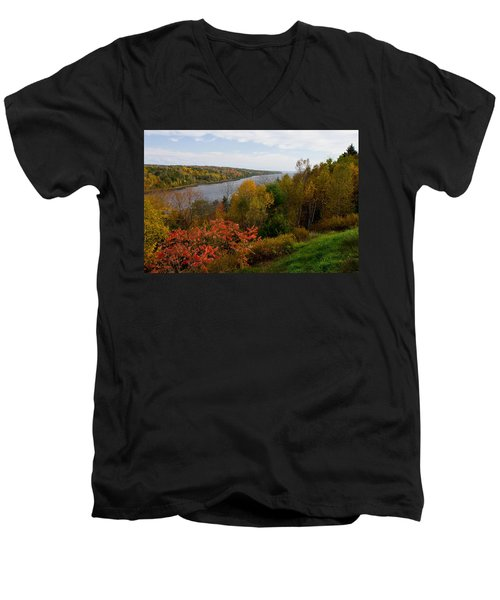 Autumn On The Penobscot Men's V-Neck T-Shirt