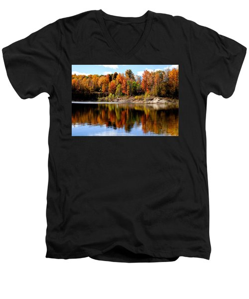 Autumn Reflected Men's V-Neck T-Shirt