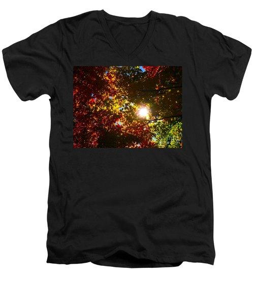 Autumn Sky Men's V-Neck T-Shirt
