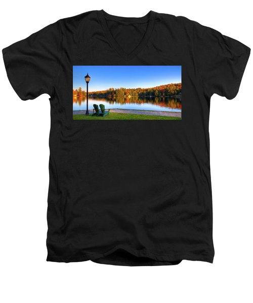 Autumn View For Two Men's V-Neck T-Shirt
