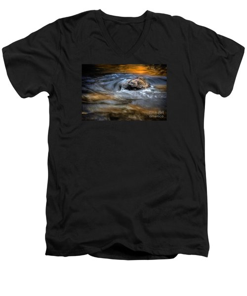 Autumn Waters Men's V-Neck T-Shirt