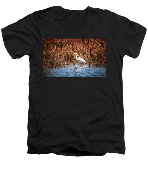 Autumn's Shore Men's V-Neck T-Shirt