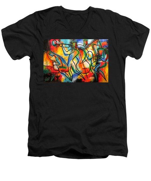 Avant-garde Jazz Men's V-Neck T-Shirt