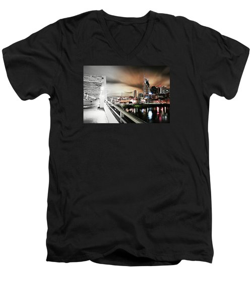 Awaiting The Dark Knight Men's V-Neck T-Shirt