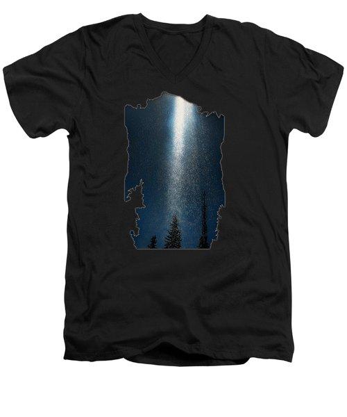 Men's V-Neck T-Shirt featuring the photograph Awakening Light by Jim Hill