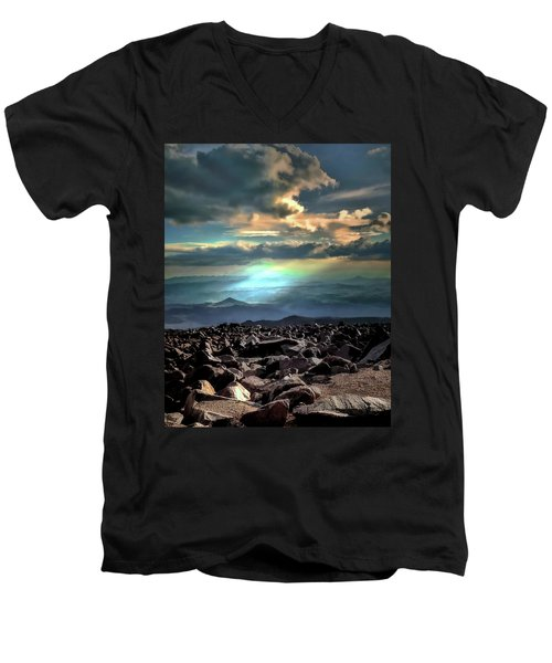 Men's V-Neck T-Shirt featuring the photograph Awareness ... by Jim Hill