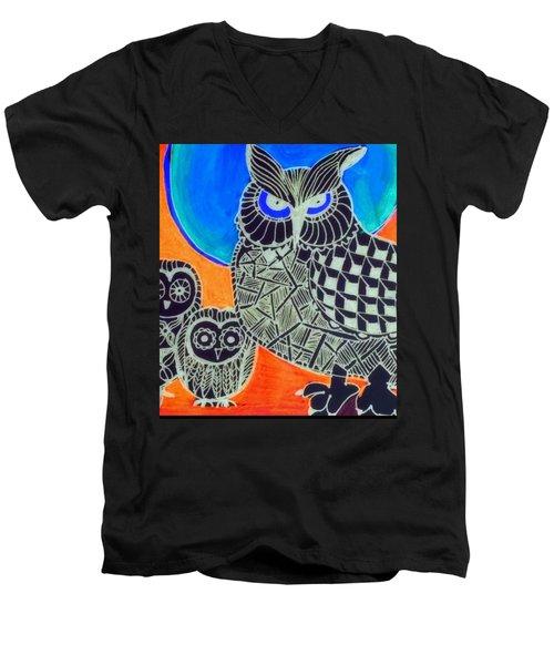 Awls Are Cool Men's V-Neck T-Shirt by Sandra Lira