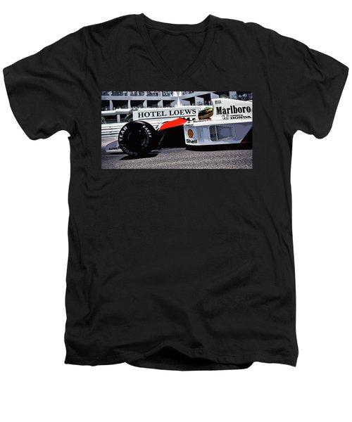 Ayrton Senna - Montecarlo Men's V-Neck T-Shirt