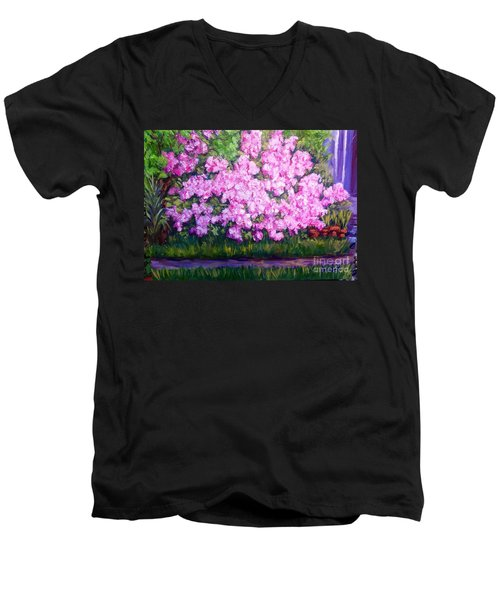 Azalea Spring Men's V-Neck T-Shirt