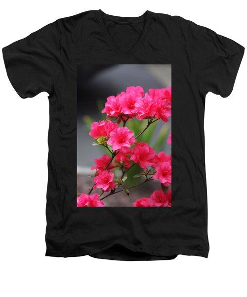 Men's V-Neck T-Shirt featuring the photograph Azalea by Vadim Levin